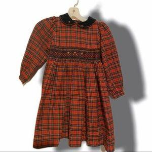 Christie Brooks Girls Smocked Dress Sz L (6X)